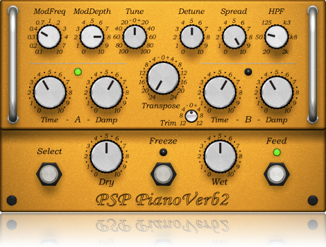 Creative resonant reverb plug-in